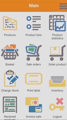 RetailVista Mobile - Home screen
