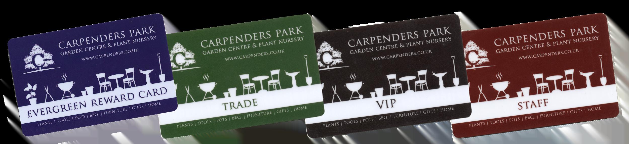 Carpenders Park Loyalty cards